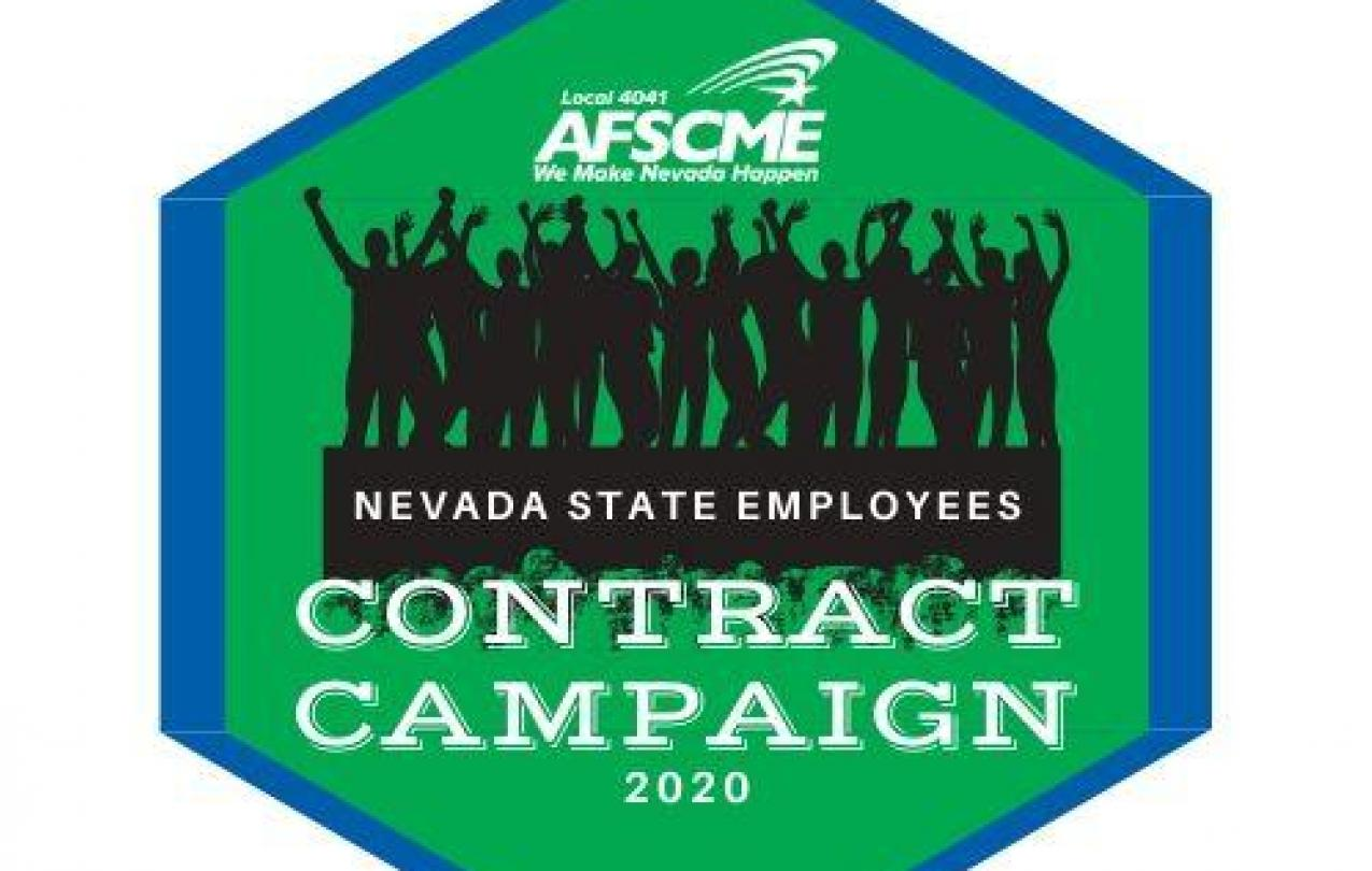 AFSCME Local 4041 Contract Campaign Logo