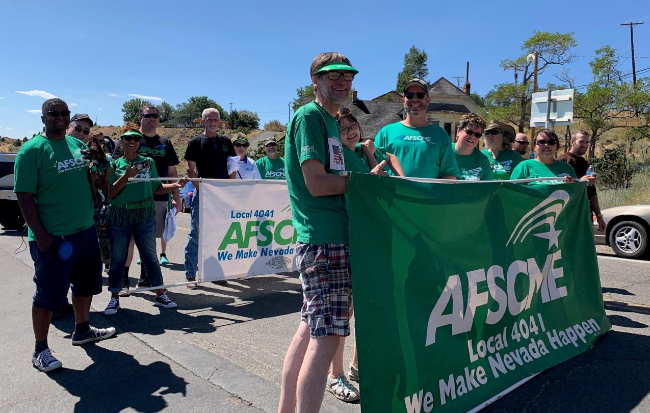 AFSCME Local 4041 at Virginia City Labor Day Parade