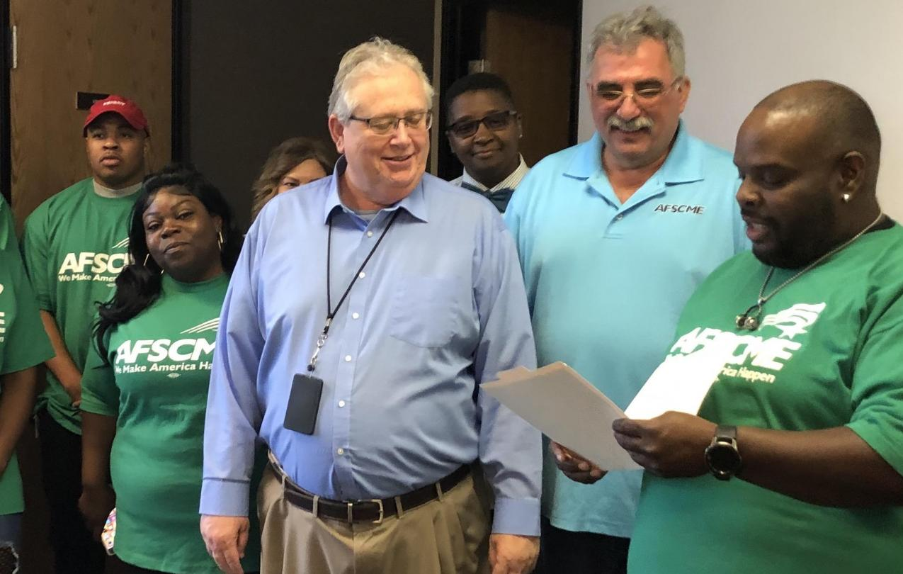 State workers from the NPC bargaining unit file for certification as AFSCME Local 4041