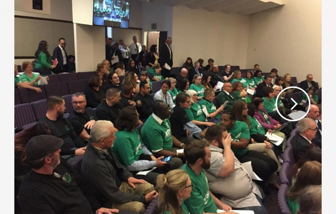AFSCME Local 4041 Members in Carson City to testify in support of SB135, a bill to allow for collective bargaining rights for state employees