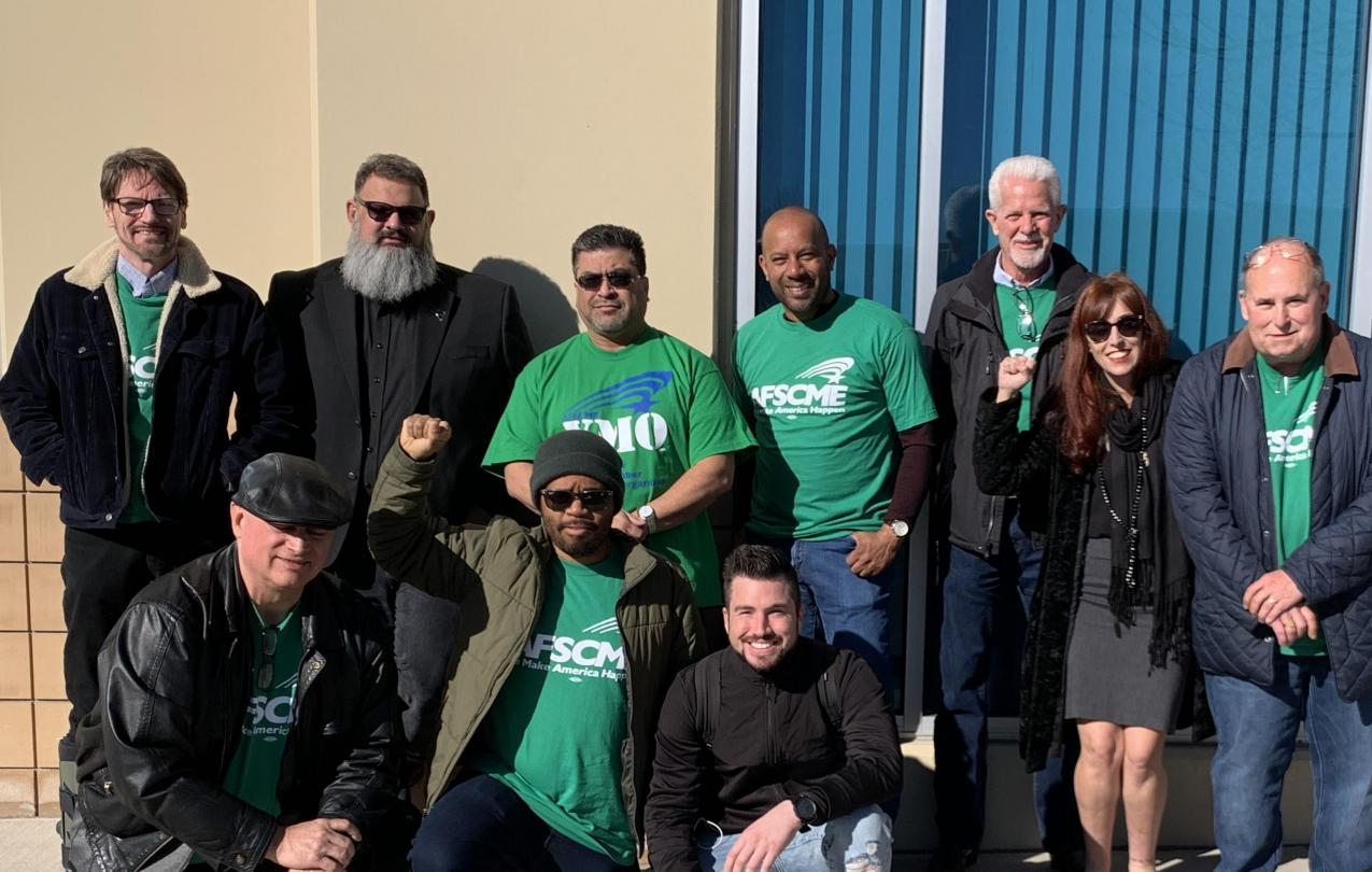 AFSCME Local 4041 members and staff at an EMRB hearing to certify the LMC unit