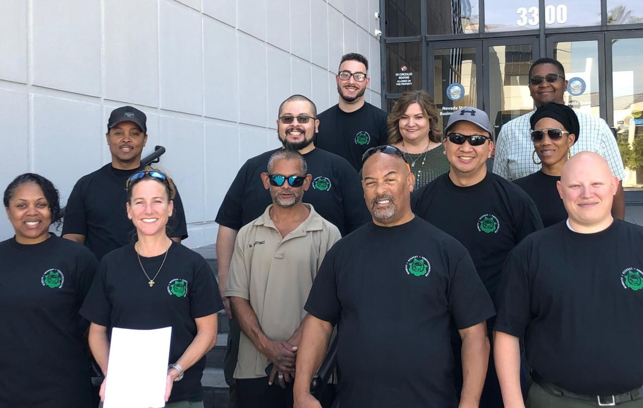 AFSCME Local 4041 Corrections members file with the state of Nevada for collective bargaining recognition