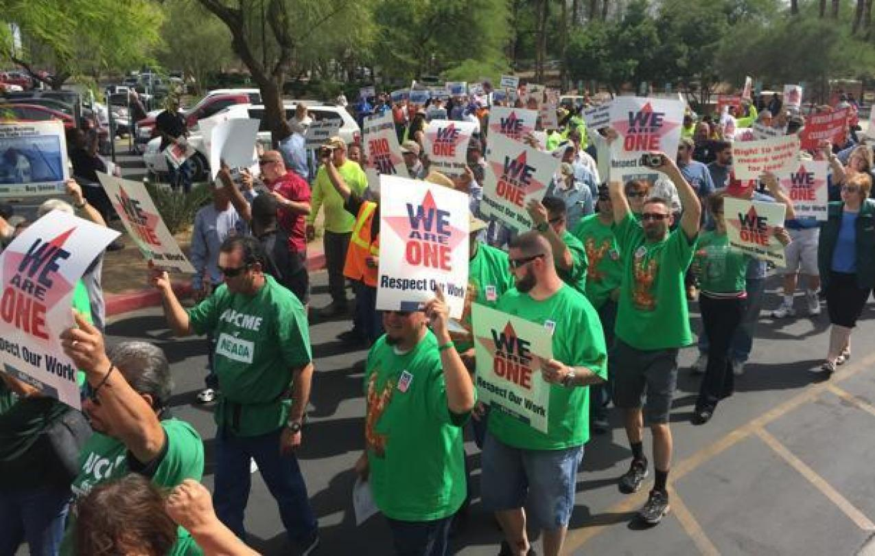 AFSCME Nevada March