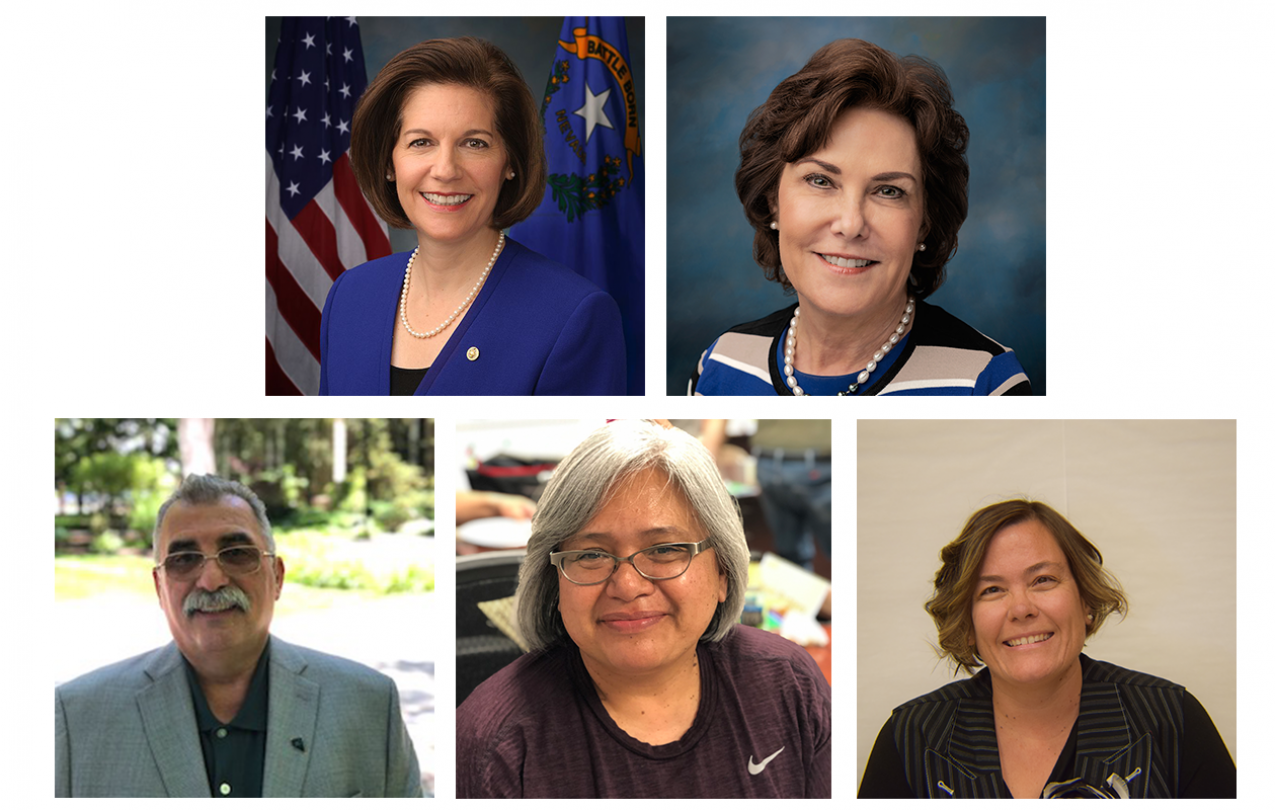 AFSCME Local 4041 members are joined by Nevada Senators Catherine Cortez Masto and Jacky Rosen to urge the Senate to send aid to state and local governments