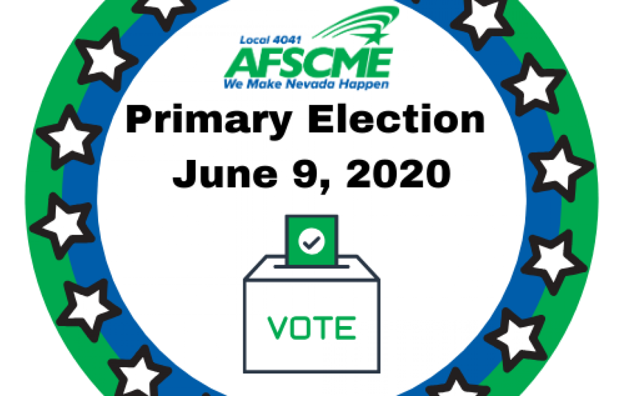 AFSCME Local 4041 Primary Election Vote Logo