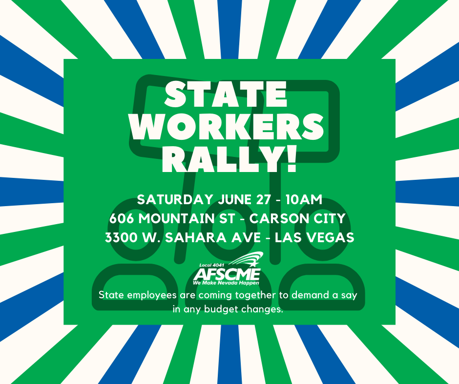 State employees rally on June 27