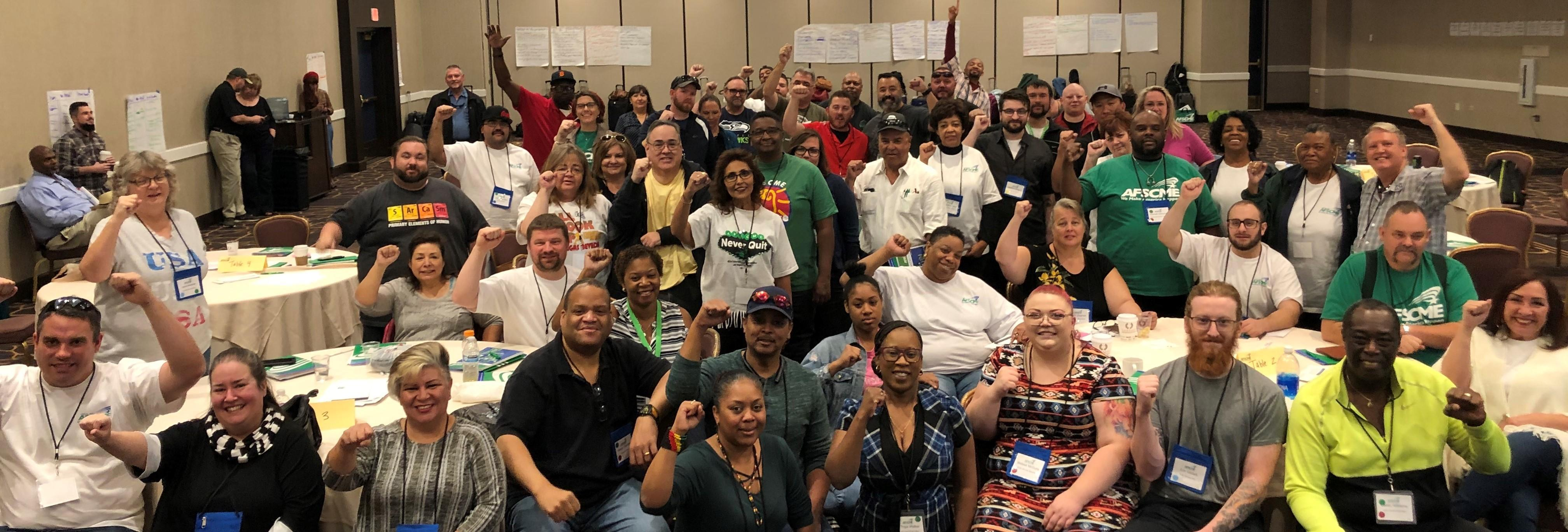 AFSCME Local 4041 activists at a Leadership Conference in October