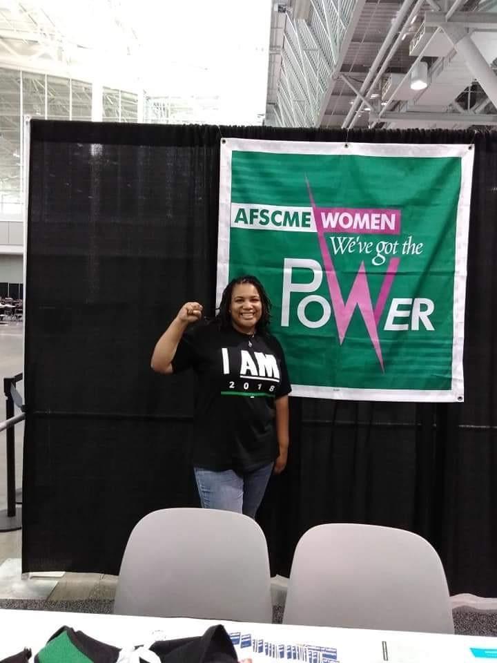 AFSCME volunteer member organizer