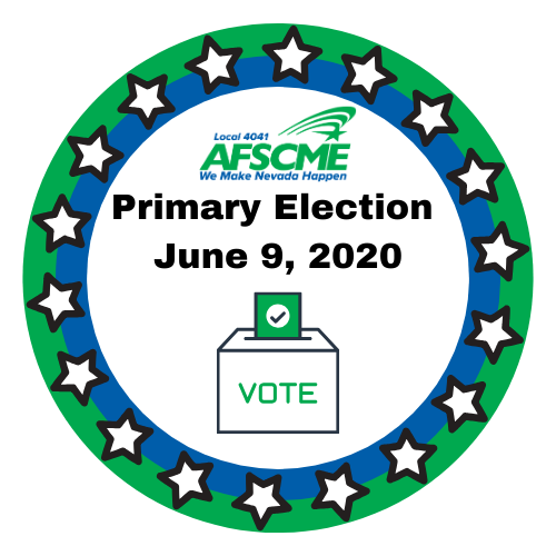 AFSCME Local 4041 Primary Election Vote Logo