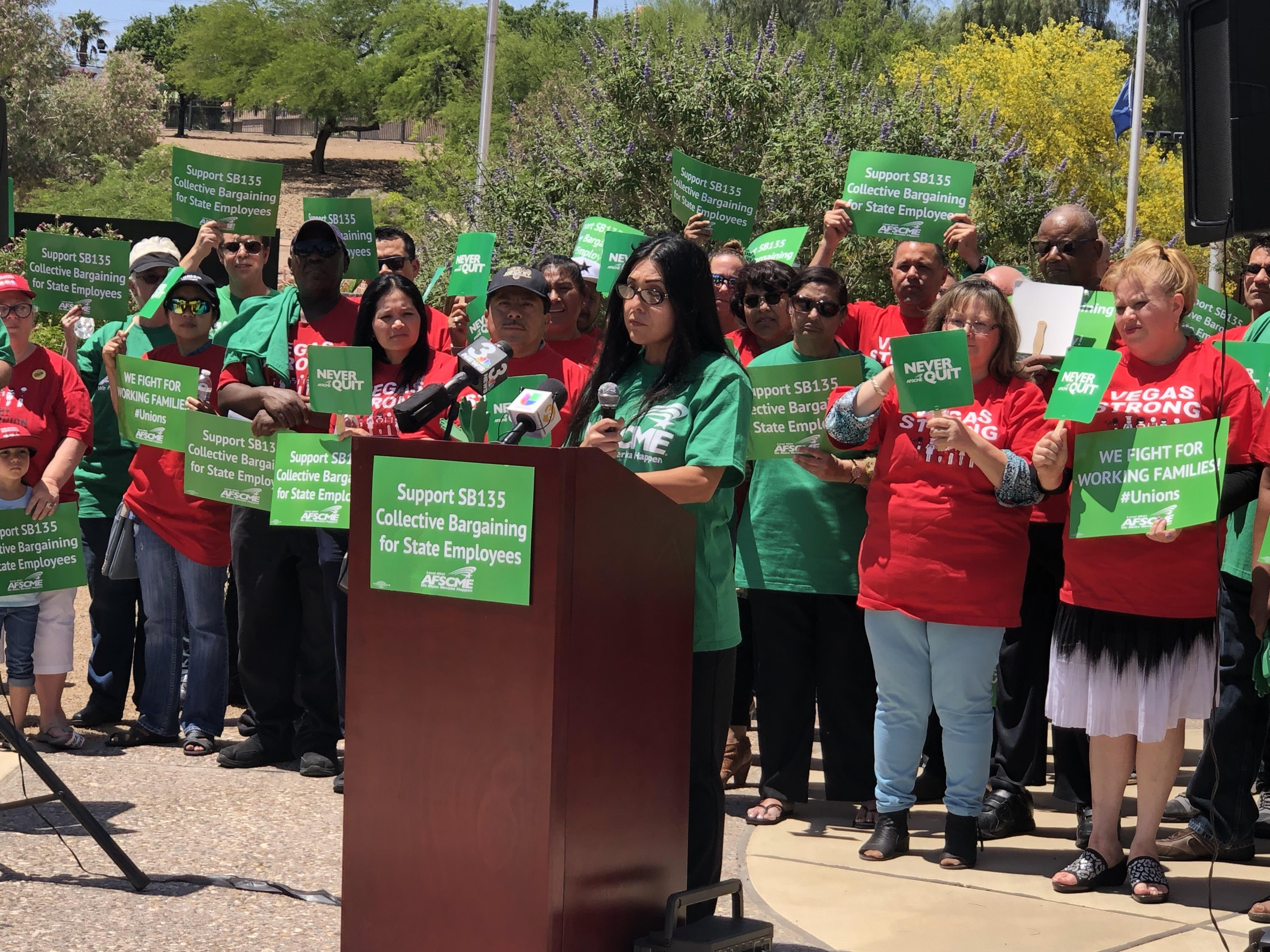 AFSCME Local 4041 rally collective bargaining rights
