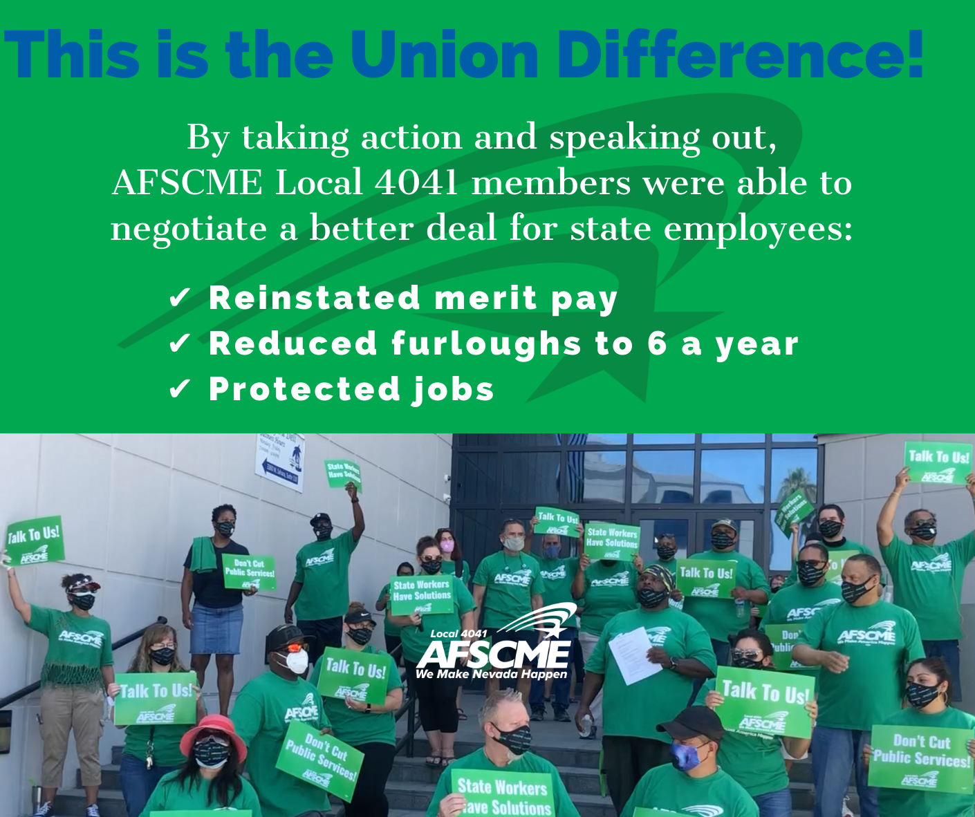 AFSCME Local 4041 members at a rally