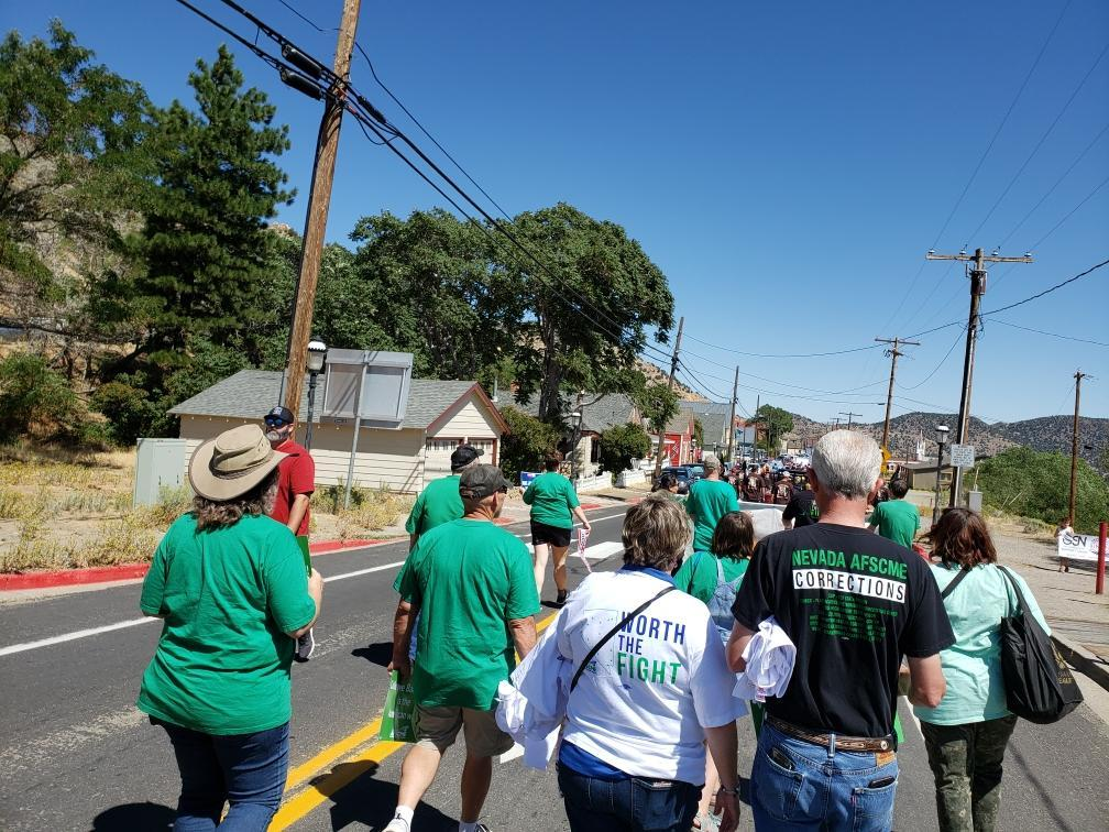 AFSCME Local 4041 at the 2019 Virginia City Labor Day Parade