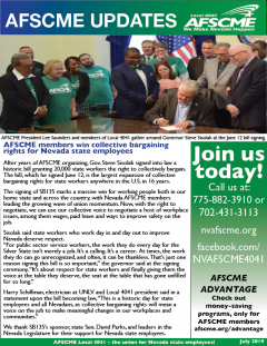 AFSCME Local 4041 July Newsletter front cover